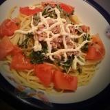 ツナと生野菜のパスタ