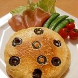 フォカッチャ風☆ブラックオリーブのパンケーキ^^