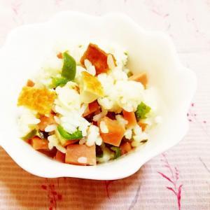 オリーブ&柚子胡椒風味♪ピーマンと厚揚げの混ぜ御飯