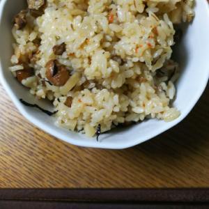 大豆とごぼうの炊き込みご飯