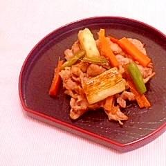 葱と豚小間の生姜炒め