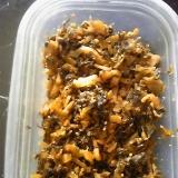 ゴマ油で高菜炒め
