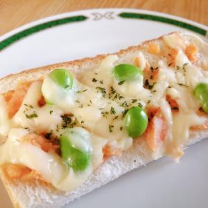 鮭と枝豆のチーズトースト