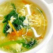 野菜たっぷり玉子スープ