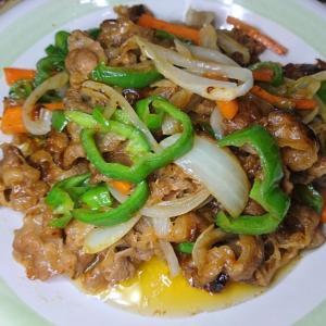 味付きプルコギ肉で野菜炒め