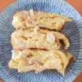 ハム&サラダチキン&キャベツの卵焼き