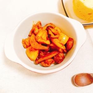 【糖質制限】鶏肉ときのこのトマトチリソース