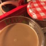 ラムレーズンチョコ&カシスのカフェオレ