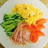 夏の暑い日に簡単☆冷やし中華(冷麺)