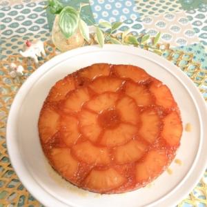 ココナッツ香る簡単キャラメルパイナップルケーキ