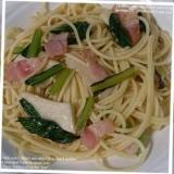 エリンギと小松菜のペペロンチーノ