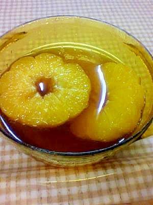 オレンジの紅茶コンポート