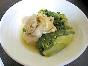 小松菜と白菜と鶏の炊いたん