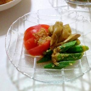 夏野菜のしょうがサラダ