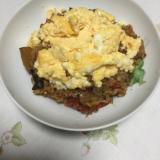 ラタトゥイユで炊き込みご飯の卵のせ