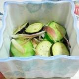 茄子、茗荷、胡瓜の梅酢和え~♪