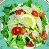 鯛のカルパッチョ風サラダ♪