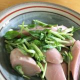 魚肉ソーセージと豆苗の簡単サラダ