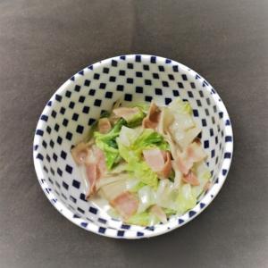 ベーコンの白菜ミルク煮