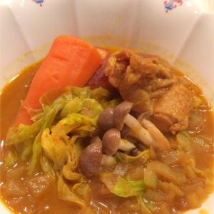 カレー粉で簡単に‼春キャベツのスープカレー