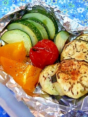 片付け楽ちん!夏野菜の(魚)グリル焼き