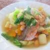 鮭と野菜の具沢山スープ