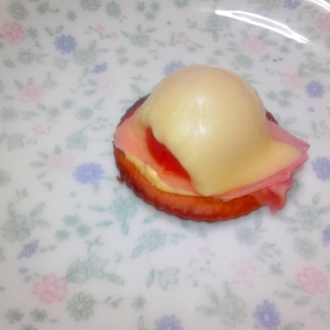 ガリとチーズとトマトのリッツ♪