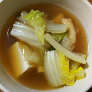 豆腐&白菜&揚げの煮物