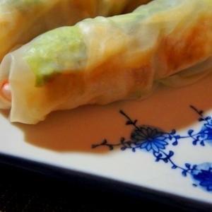 ビールが進む、豆腐の韓国風ピリ辛蒲焼の生春巻き