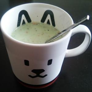 香ばし美味し☆黒ゴマきなこ青汁豆乳