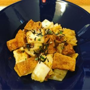レンジで⋆厚揚げと白菜の麻婆豆腐
