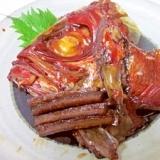 フライパン調理☆ 誰でも簡単「鯛の兜煮」