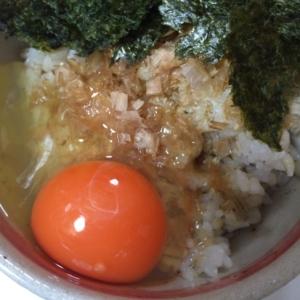 ポン酢の卵かけご飯