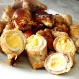 うずら卵の豚肉巻き、アンチョビソース