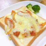 ラタトゥイユの残りで簡単*ピザトースト♥
