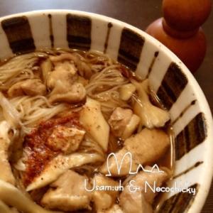 小腹すいたら簡単鶏肉入りにゅう麺