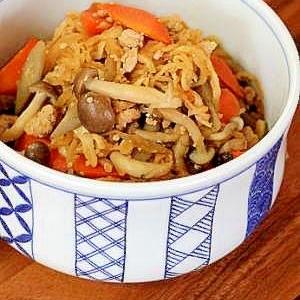 鶏そぼろと根菜の炊き合わせ