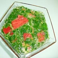 超簡単で美味♪モロヘイヤとトマトのサラダ