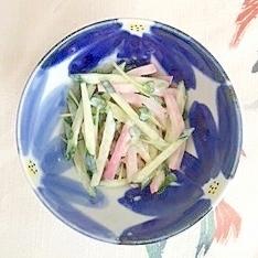 胡瓜と板蒲鉾のヨーグルトわさび漬け和え
