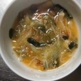 レタスたっぷりの味噌汁