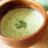 簡単♪ブロッコリー芯のヘルシー冷製スープ♪