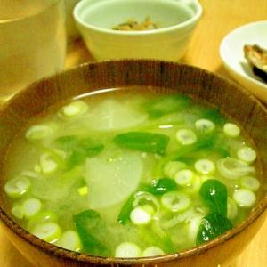 ほうれん草・ねぎ・大根・白菜の味噌汁