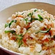 塩鮭と大葉の簡単混ぜ寿司✿