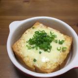 厚揚げの味噌マヨチーズ