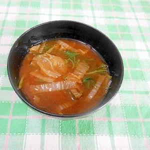白菜と水菜のお味噌汁