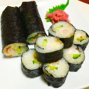 節分の日ご飯♪エビきゅうりマヨちらし巻き寿司♡