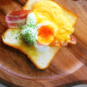 食卓をカフェに変身!エッグベネディクト トースト