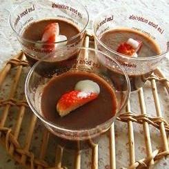 ココアで作る☆ココアミルクムース