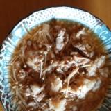 豚肉とエノキの梅おろし煮