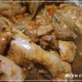 簡単美味&ヘルシー、柿と鶏肉の炒め物♪